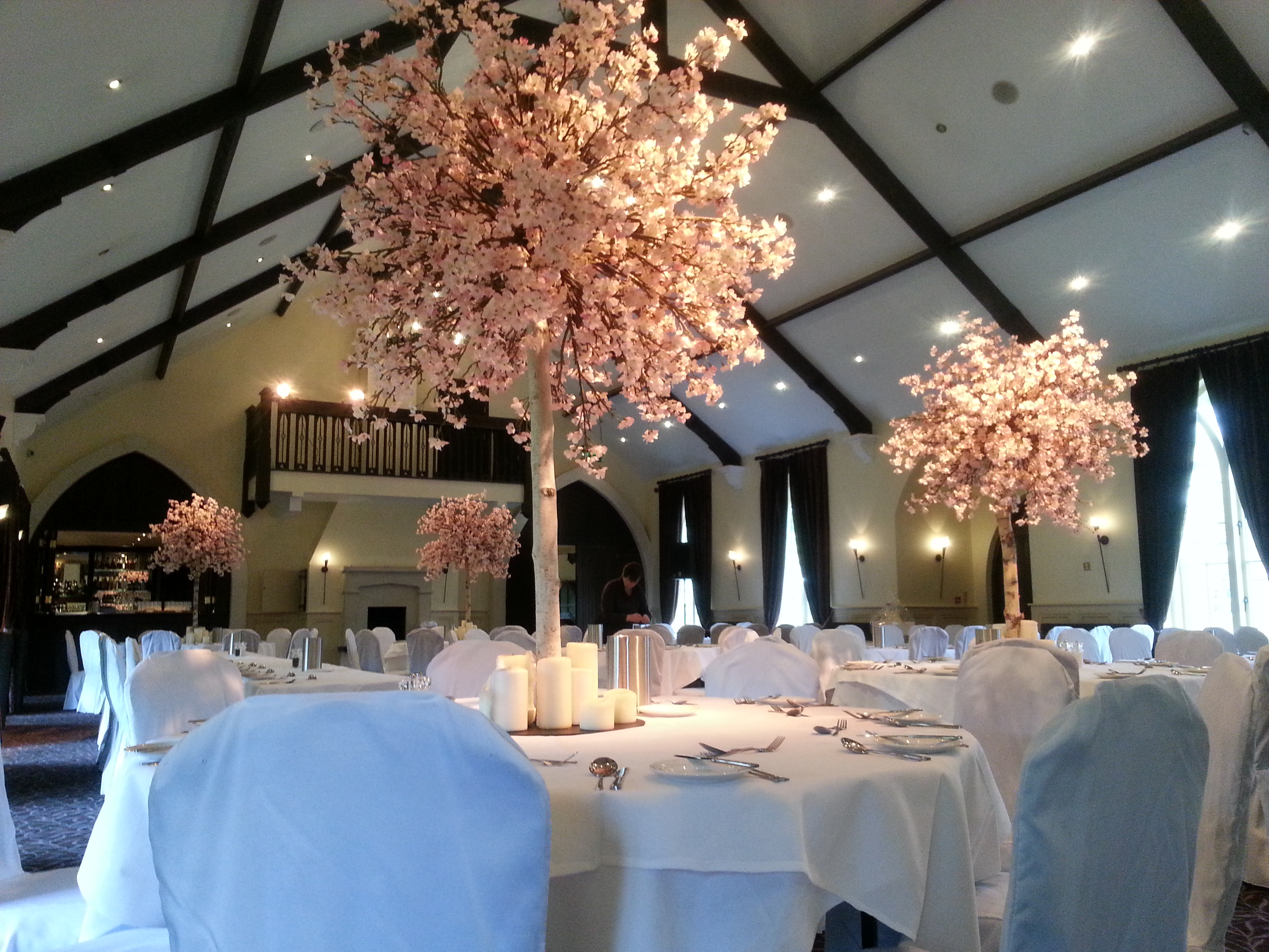 and rentals rental cherry for events faux white rent artificial plants blossom wedding tree decor pink decorations trees weddings event plantscape flower
